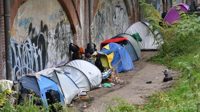 Obdachlose im Tiergarten