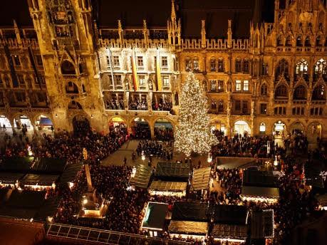 München Weihnachtsmarkt.Mittelaltermarkt In München Am Freitagabend öffnet Dann Ein