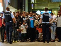 Polizei durch Flüchtlinge im Stress
