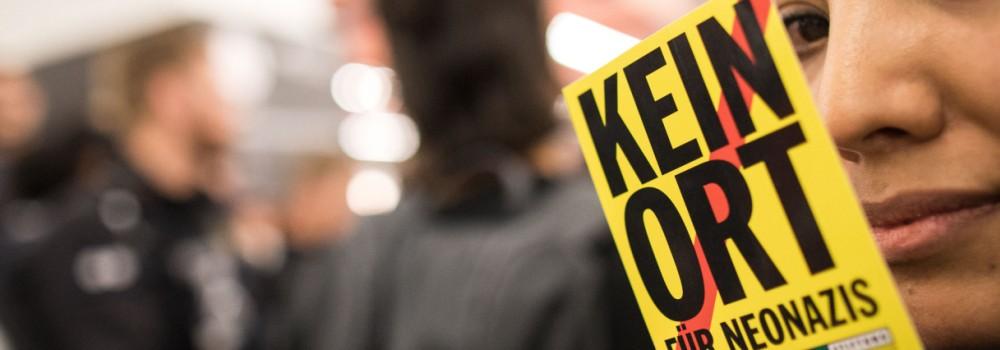 Buchmesse Frankfurt - Protest gegen Rechts