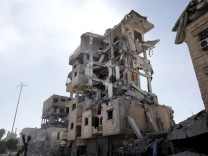 Houses destroyed by fighting between Syrian Democratic Forces and Islamic State militants are pictured in Raqqa