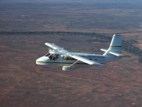 Nomad N22B aircraft Royal Flying Doctor Service near Broken Hill New South Wales Australia PUBL