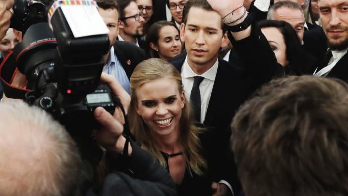 Wahlen in Österreich - Wahlfeier der ÖVP