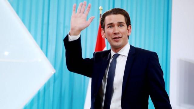 Nationalratswahl in Österreich Wahlparty der ÖVP 171015 VIENNA Oct 15 2017 Sebastian Ku