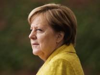 Merkel begrüßt Premierminister aus Georgien