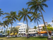 Ocean Drive and Art Deco architecture Miami Beach Miami Florida United States of America North