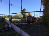 Bahnübergang Dachau Waldfriedhof Steinkirchen