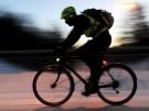 Radfahrer im Winter