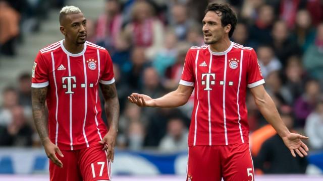 1 Oktober 2017 Berlin Olympiastadion Fussball 1 Bundesliga 7 Spieltag Hertha BSC FC Bayern; Boateng Hummels FC Bayern