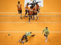 Berlin Deutschland 18 10 2017 Jubel BR Volleys Frust Herrsching beim Spiel zwischen Berlin Recyc