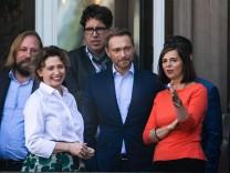 Treffen von FDP und Grünen vor der Sondierung