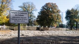 Schwimmbad Freising Baustelle