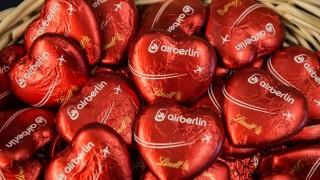 Air Berlin und das Schokoladenherz gehörten zusammen.