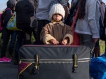 Flüchtlinge kommen an