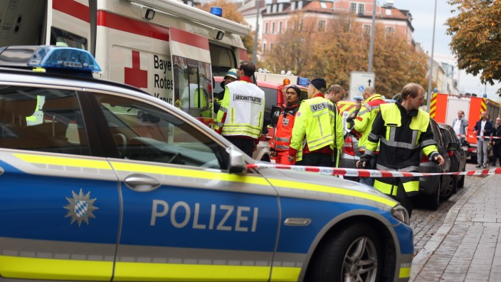 München: Attentat / Messer-Attacke am Rosenheimer Platz