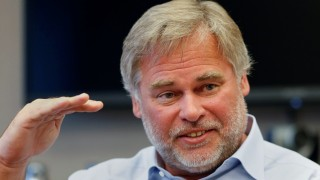 FILE PHOTO:    Eugene Kaspersky, chairman and CEO of Kaspersky Lab, answers a question during an interview in New York