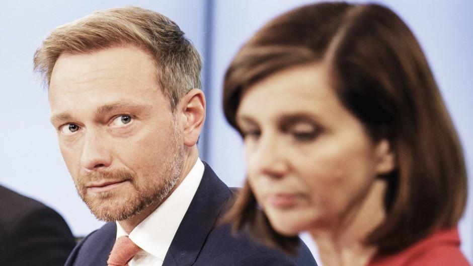 Bilder des Tages Berliner Runde im ARD Hauptstadtstudio Christian Lindner FDP Parteivorsitzender u