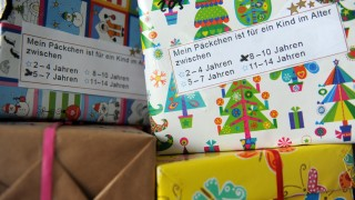 Spendenpakete für Flüchtlinge in München, 2014