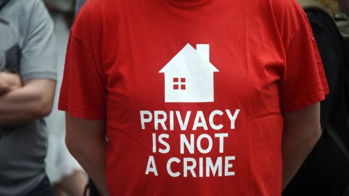 Demonstration für Datenschutz