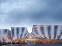 Konzerthaus Werksviertel München Architektenwettbewerb Vierter Platz: 3XN A/S aus Kopenhagen.