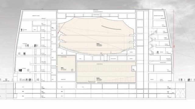 Konzerthaus München Erster Preis Entwürfe von Curkowicz Neubaur