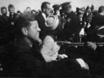 FILE PHOTO: President John F. Kennedy and Jacqueline Kennedy moments before Kennedy was assassinated in Dallas