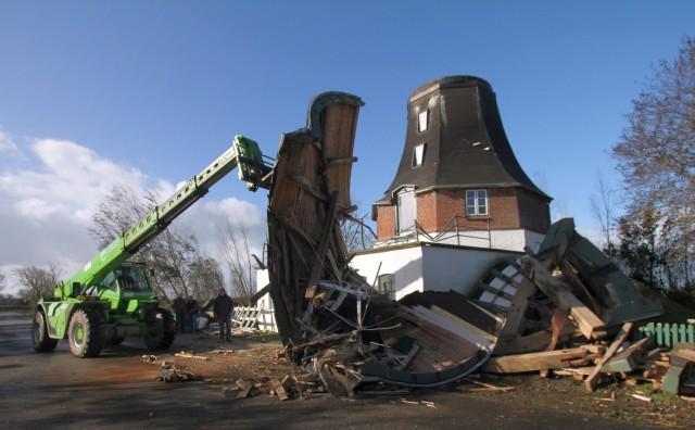 Folgen des Sturmtief Herwart in Schleswig-Holstein