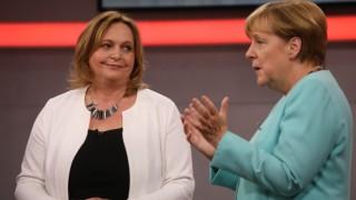 Angela Merkel bei RTL-Aufzeichnung _Deutschland fragt nach_