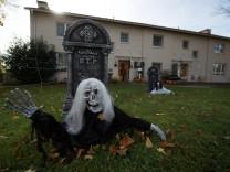 Halloween in Wiesbadener Vorgärten