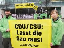 Protest gegen derzeitige Agrarpolitik