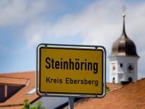 Ortsschild Gemeinde Steinhöring