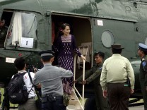 Myanmar State Counselor Aung San Suu Kyi visits Rakhine State, Sittwe - 02 Nov 2017