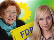 Nina Rectenwald FDP Irmgard Zecher Grüne Foto: dpa/oh