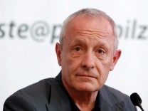 FILE PHOTO: Former member of the Greens Pilz addresses a news conference in Vienna