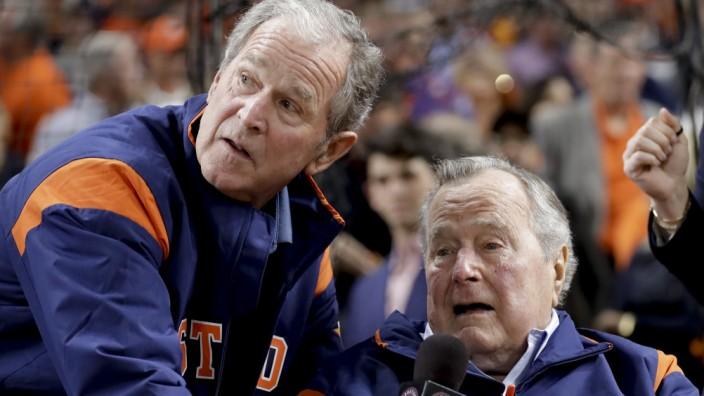 US-Expräsidenten George W. Bush und George H. W. Bush