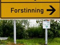 Ortsschild Gemeinde Forstinning