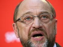 SPD-Chef Schulz stellt Leitantrag vor