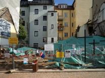 Illegler Abriss eines denkmalgeschützen Hauses in München, 2017