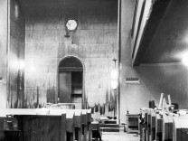 """Synagoge in München nach der """"Reichskristallnacht"""", 1938"""