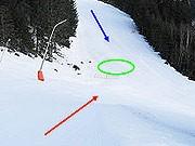 Das Skiunglück des Dieter Althaus, Rätsel um den tödlichen Moment; Foto: Alpinpolizei Liezen
