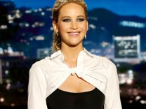 Jennifer Lawrence bei Jimmy Kimmel