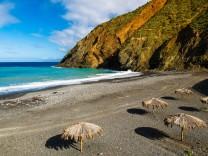 Strand von Vallehermoso La Gomera Kanaren