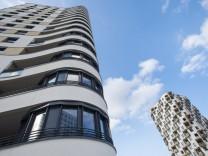 Wohnhochhäuser an der Siemensallee in München, 2014