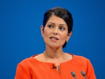Conservative Party Conference 2017 Secretary of State for International Development Priti Patel give