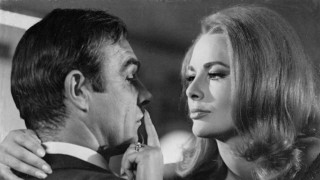 The actors Sean Connery and Karin Dor in a scene from the film 007 You only live twice x06393x