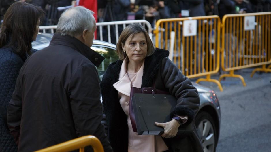 Catalan Parliament Speaker Attends Spain's Supreme Court