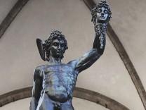 Perseus with the head of Medusa by Benvenuto Cellini in Piazza della Signoria Florence Italy 7th