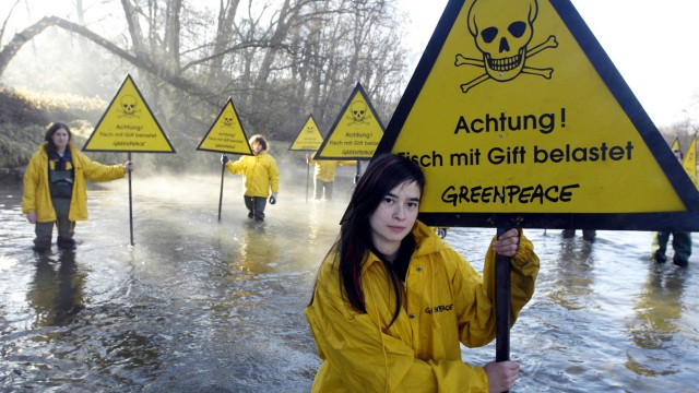 Greenpeace-Aktion an der Alz, 2006