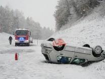 Unfall nach Schneefall in der Oberpfalz