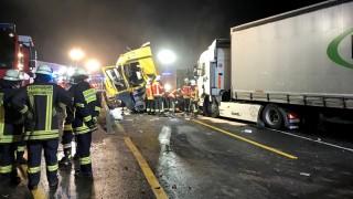 Unfall mit Lastwagen auf A3